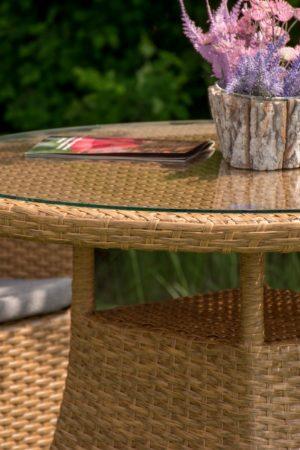 Столик плетёный со стоеклом