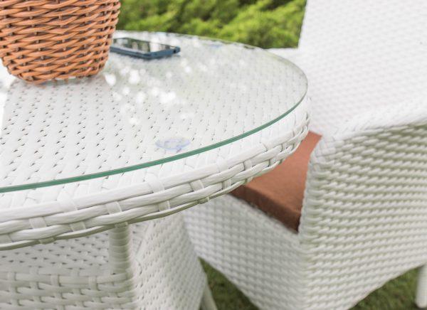 Мебель садовая для сада и беседки ротанг белый