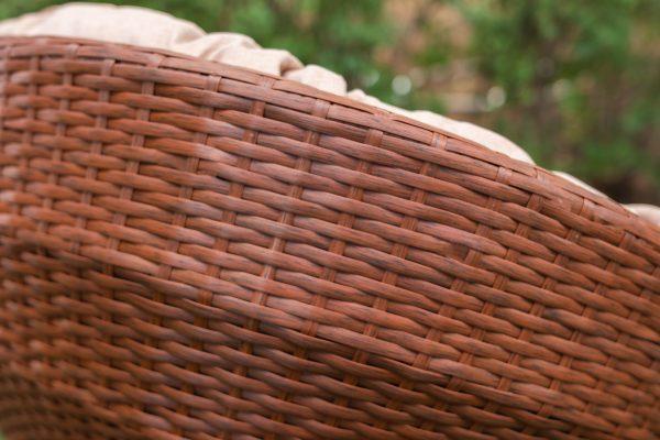ротанговое плетение искусственный ротанг каштан