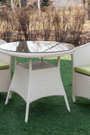 кофейный комплект мебели для двоих