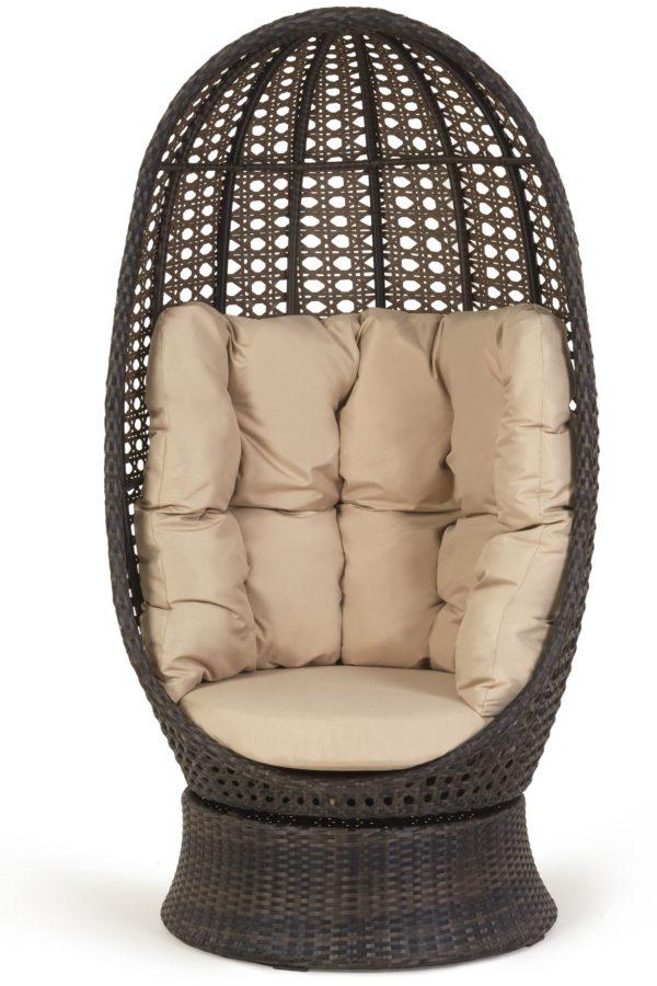 кресло из ротанга Аспекту поворотный кокон