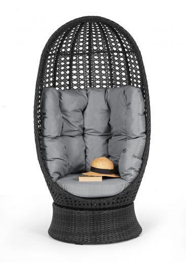 высокое кресло поворотное из ротанга