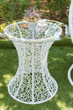 красивый белый журнальный столик Лайт из ротанга