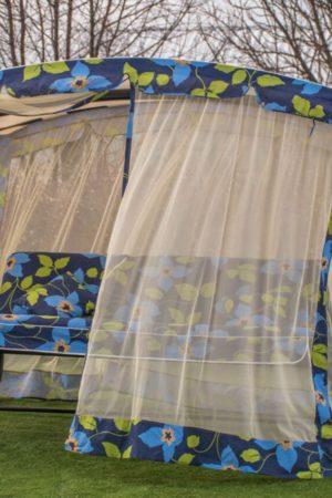 Качеля Нади ткань Италия цветок голубой