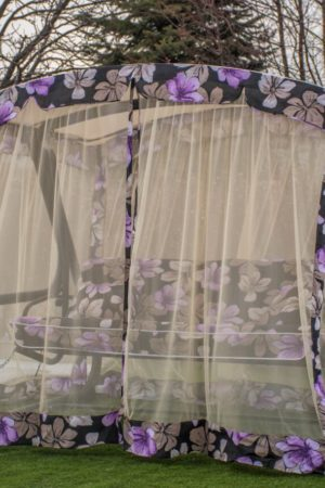 Нади с тканью италия цветок фиолет