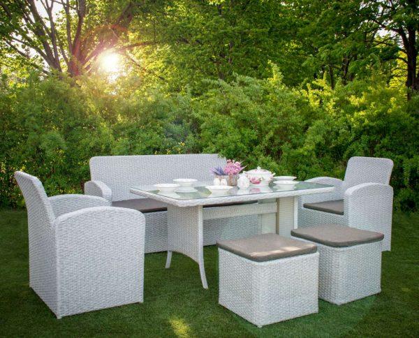 Комплект плетёной садовой мебели из ротанга Флорес
