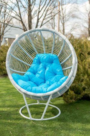 кресло кокон садовое из ротанга