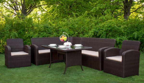 Комплект столовой плетёной мебели из ротанга