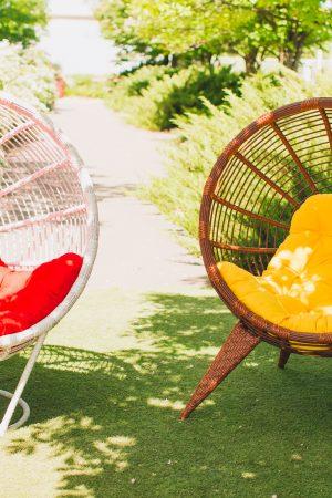 Круглые кресла бьянка и манго из ротанга