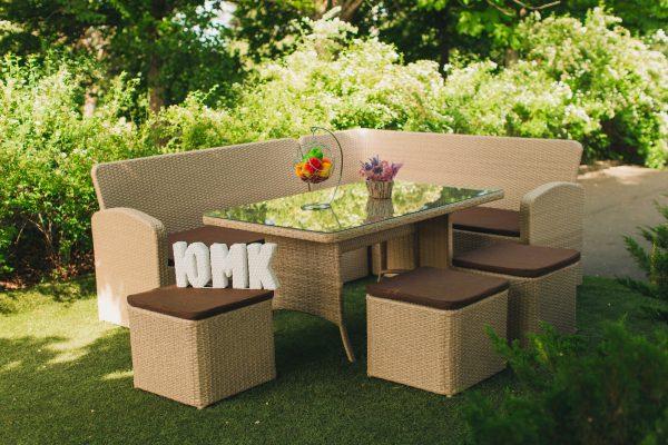 Комплект плетёной мебели из ротанга Грета ЮМК