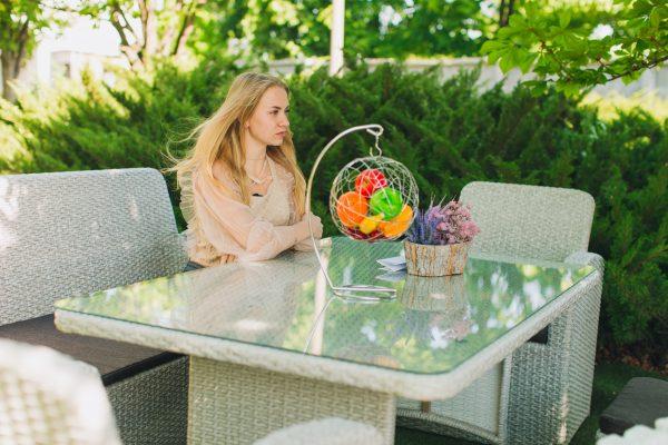 Плетені меблі садові з ротангу