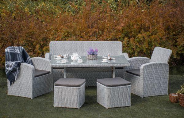 Столовый комплект мебели из ротанга