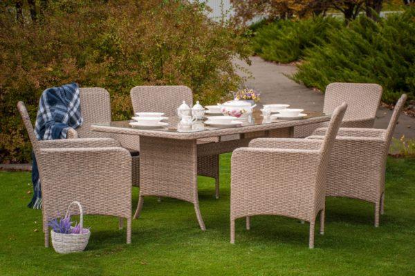 Практичная плетёная мебель Элис комплект