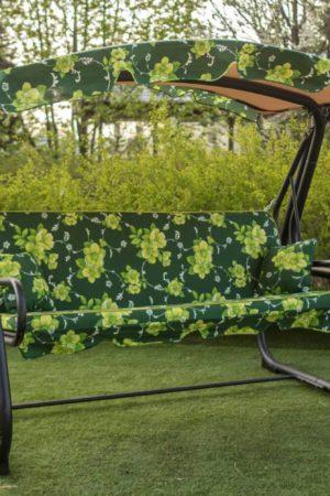 качеля садовая с козырьком и мягким сиденьем