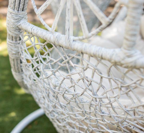 плетение белая берёза на кресле коконе Прованс