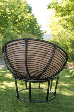 кресло Папасан из искусственного ротанга