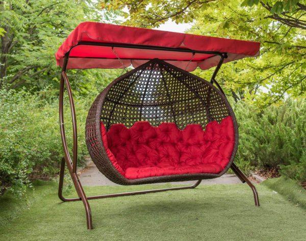 Трёхместное подвесное кресло кокон Дабл Гранд