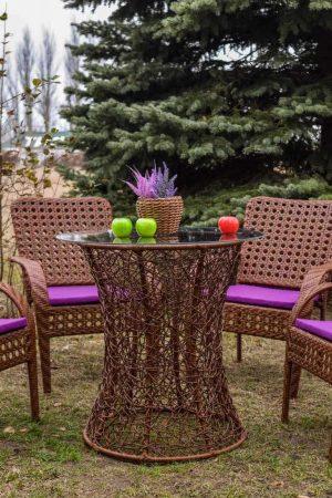 Мебель из искусственного ротанга стулья классик