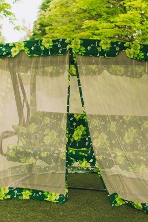 Качели Патио зелёного цвета от ЮМК фабрики Украинские конструкции