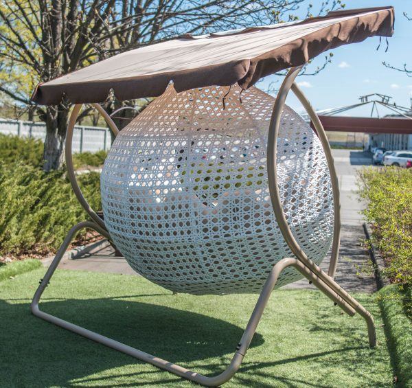 кресло кокон дабл гранд из ротанга
