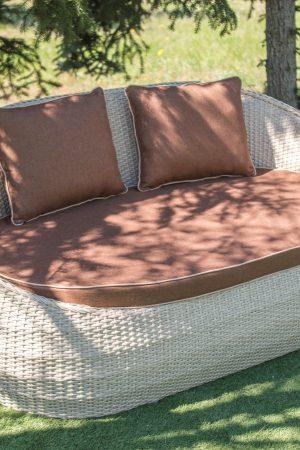 плетёный диван из искусственного ротанга ЮМК