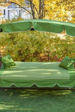 качели для сада Корса раскладные в кровать