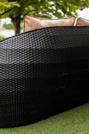 плетенный диван из искусственного ротанга Богата ЮМК