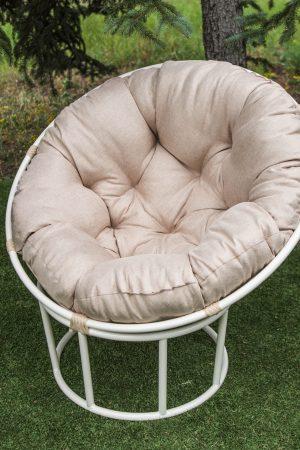 садовое кресло из стали белое с бежем