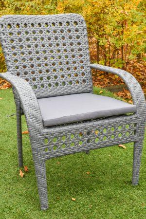 Садовое кресло плетёное с мягким сиденьем