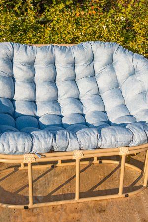 Стальная мебель с мягким сиденьем