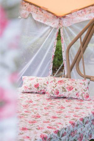 Ткань качели в нежной расцветке Прованс