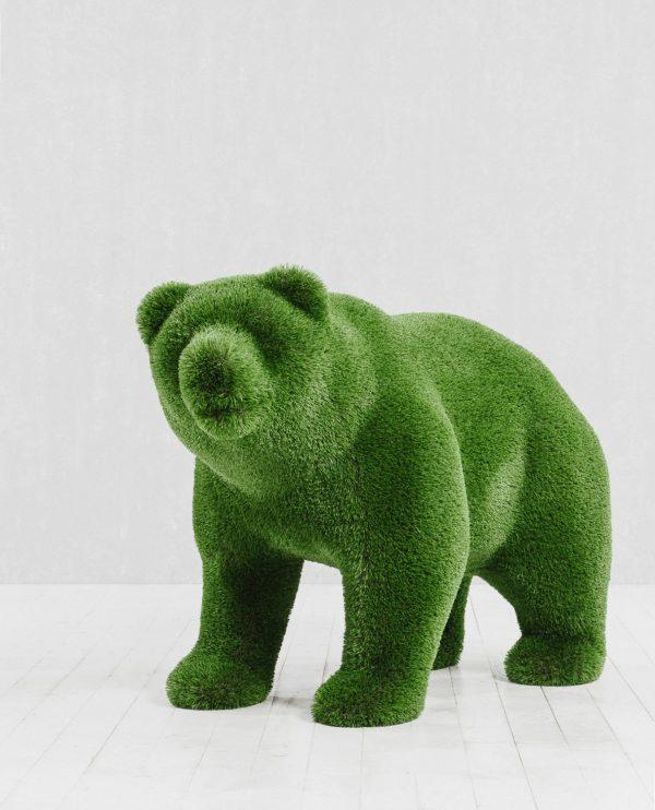 Зелёная фигура Топиари Медведь