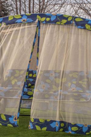 Садовая качеля из металла с москитной сеткой Капри