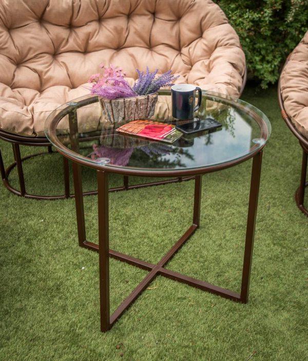 Садовый столик из металла ЮМК Икс