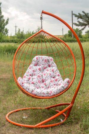 Кресло кокон из металла с подушкой