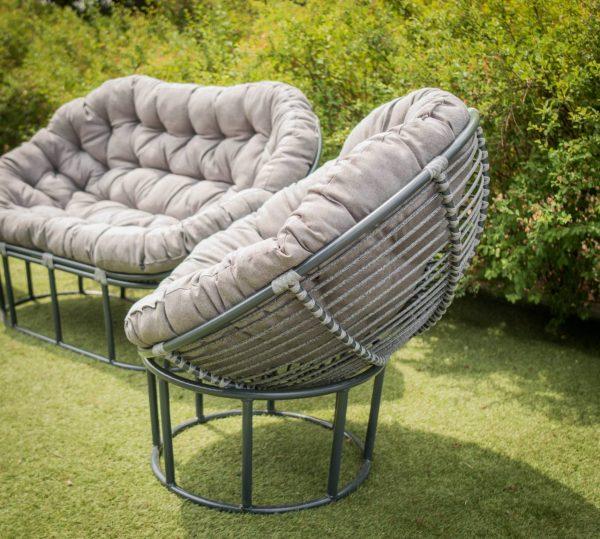 мебель садовая из металла плетёная ротангом