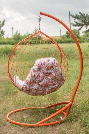 Подвесное кресло Адель 2 в оранжевом цвете