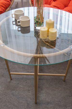 стальной кофейный столик для улицы