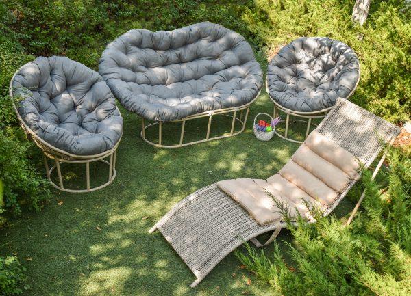 Мебели садовая из стали и ротанга ЮМК ФАБРИКА