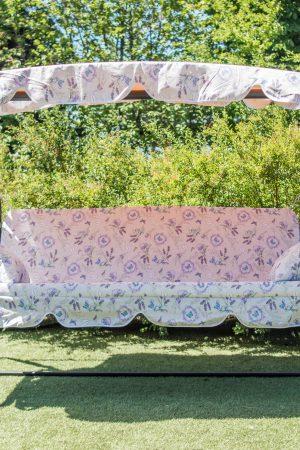 Металлическая садовая качеля ЮМК Украинские Конструкции