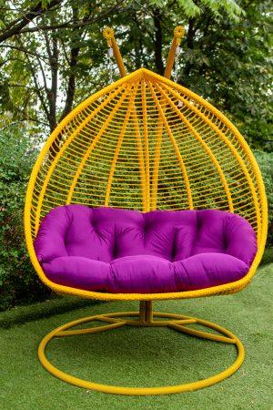 Дабл полосатый подвесное кресло для двоих