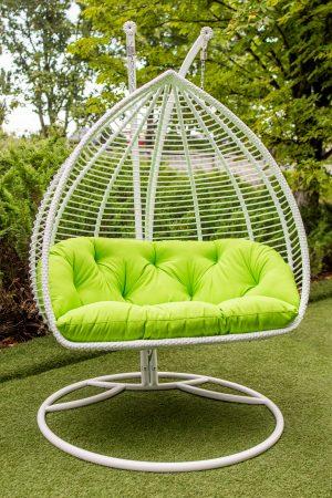 крісло кокон для двох Дабл Люкс полосатий