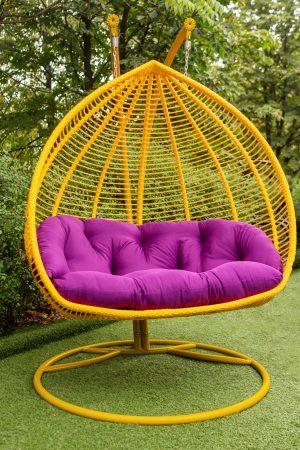 кресло кокон подвесное для двоих людей качели