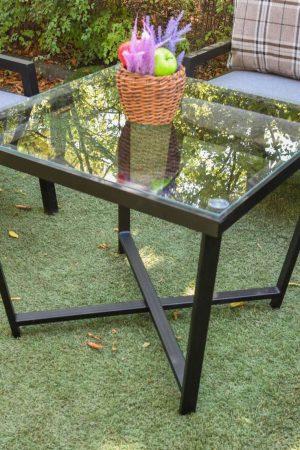 Столик металл со стеклом
