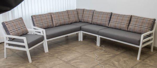 Лофт мебель белая с серым