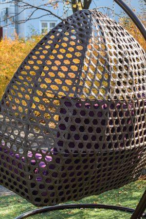 плетение ЮМК на садовой качеле