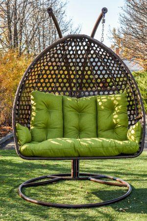 Подвесное кресло качеля из ротанга