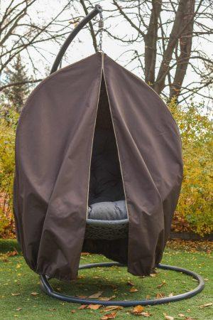 Коричневый чехол для подвесного кресла кокона