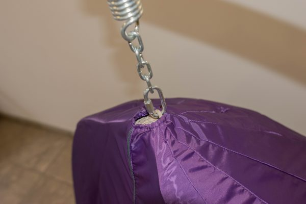 фиолетовый чехол на подвесное кресло с верху