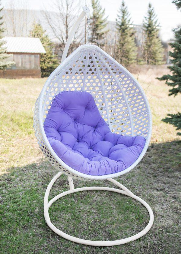Кресло подвесное Асоль Эко белое с фуксия